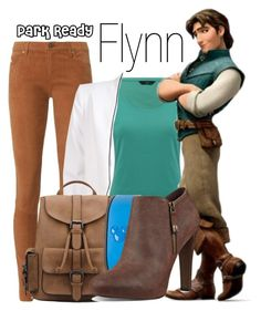 """""""Flynn Rider~ DisneyBound"""" by basic-disney ❤ liked on Polyvore featuring AG Adriano Goldschmied, M&Co, Disney and Nine West"""
