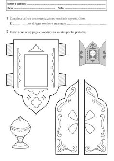 Sagrario Catholic Religious Education, Catholic Crafts, Catholic Kids, Church Crafts, Sunday School Coloring Pages, Sunday School Crafts For Kids, Teaching Religion, Jesus Is Life, Bible Story Crafts