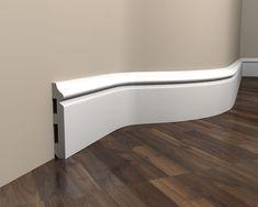 Listwa przypodłogowa elastyczna MD018 flex to gięta listwa, która można dostosować do nieregularnego kształtu ściany. Dzięki temu łuki w Twoim domu nie będą stanowić już żadnego problemu. #molding #baseboard #Interior #Decoration Modern, Projects To Try, Bathtub, Vogue, Bathroom, Studio, Diy, Baseboards, Electrical Installation
