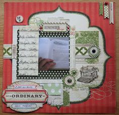 Pinner: Reading Layout using My Minds Eye Lost & Found 2 - Rosy collection