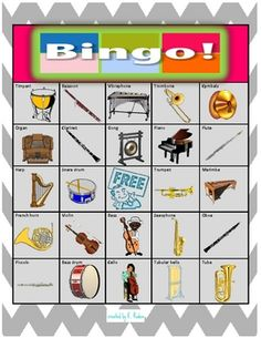 6 additional extension cards to go with the original Orchestra Instruments Bingo, for a total of 15 in the set. Print two of each card so multiple students have a chance of winning each round!