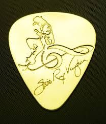 Stevie Ray Vaughan - Solid Brass Guitar Pick Acoustic Electric Bass for sale online Guitar Tips, Guitar Songs, Guitar Lessons, Music Do, Music Is Life, Music Stuff, Rock Music, Steve Ray Vaughan, Acoustic Guitar Cake
