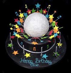 Disco Ball Explosion cake