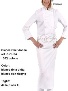 A cook's jacket, highly effective not only in cooking but also in pastry and chocolate shop.. - Una giacca da cuoca, di sicuro effetto non solo in cucina ma anche in pasticceria e cioccolateria.