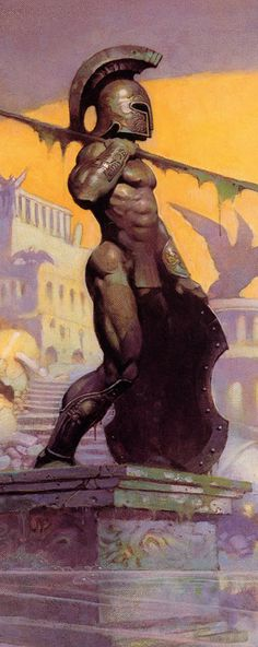 I've seen this Amazing Drawing ( or Painting ) on a Cover on a Book. I didn't know that it was done by Artists. #Frank_Frazetta