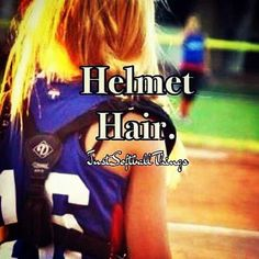 This works for more than softball helmet hair