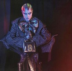 Cara Delevingne is unrecognizable in the new Marc Jacobs campaign which also features Courtney Love, St. Vincent, Marilyn Manson, and others.