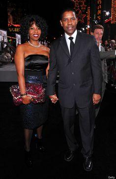 Denzel Washington & wife Pauletta Pearson Washington: 20 Celebrity Couples Who Have Been Married 25 Years . Black Love, My Black Is Beautiful, Beautiful People, Black Art, Black Couples, Couples In Love, Power Couples, Black Celebrity Couples, Sweet Couples