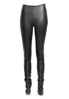 077c5c1572 Black Low Waist Zipper Skinny PU Leather Pants Leather Leggings, Dressed To  Kill, Rock