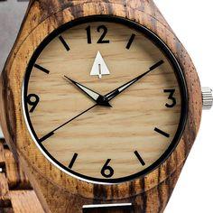 All Wood Watch // All Zebra wood Glow in Dark
