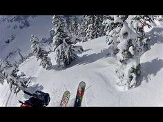 GoPro Skiing HD: Whistler 45 Fresh Pow Pineapple Express! (Canada BC)