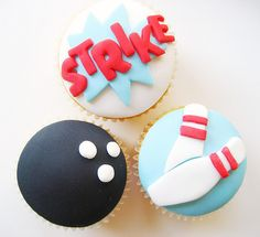 bowling cupcake toppers!