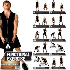 Dumbbell Exercises For Men - Functional Healthy Workout Back Arm - FITNESS HASHTAG