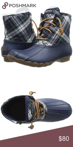 Sperry Duck Boots Worn only a few times, perfect condition just too tight on my feet Sperry Shoes Winter & Rain Boots