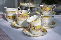 Vintage Hand Painted Tea Set by cake-stand-heaven, via Flickr