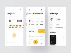 Split Check App - Overview designed by Den Klenkov for Fireart Studio. Connect with them on Dribbble; Design Food, Web Design, App Ui Design, Global Design, Graphic Design, Design Android, Check In App, Case Study Design, Mobile Ui Design