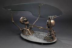 overheal: asylum-art-2: Skeleton Coffee Table...   All that i want....