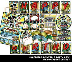 Superhero DIY Printable Party Pack