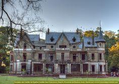 Castillo De Egaña, Rauch  Con ese nombre se conoce a la magnífica mansión rural llamada  Estancia San Francisco en el partido de Rauch, Provincia de Bs As,  Argentina. Diseñado por Eugenio Diaz Velez, se construyó entre  los años 1918 y 1930 y fue pionera en su tiempo, con 77 habitaciones,