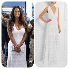 #KenyaMoore's White Lace Crochet Dress #RHOA