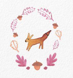 Jelena Matriszenka #fox #foxillustration #creature #watercolor #watercolorfox #forest #artforkids #cute #illustration #jelenamatriszenka