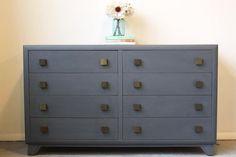 Gorgeous Dark Grey Blue Dresser by MegMade in Lake View, Chicago, IL, USA ~ Krrb