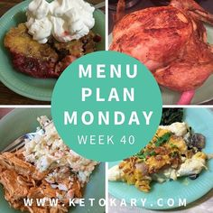 Menu Plan Monday on