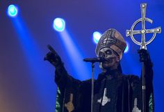 Mary Goore of the Swedish heavy metal band Ghost B.C.