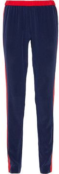 Prabal Gurung Two-tone silk track pants on shopstyle.com