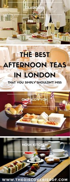 The best afternoon teas in London. Luxury London restaurants you need to have in your life. Food I Travel #london #food #luxury