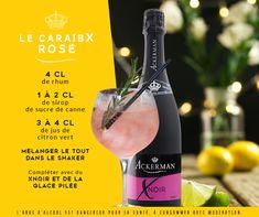 Un petit air de Caraïbes associées aux bulles pétillantes du Xnoir, pour un cocktail frais et acidulé. Shaker, Cocktails, Lime Juice, Sparkling Wine, Shave Ice, Rum, Bubbles, Fresh, Alcohol