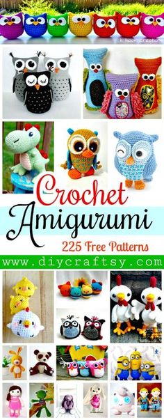 Crochet Amigurumi - 225 Free Crochet Amigurumi Patterns - DIY & Crafts