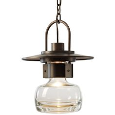 Hubbardton Forge Mason Single Light Wide Outdoor Pendant - High W Coastal Dark Smoke / Clear Outdoor Lighting Pendants Outdoor Pendant Lighting, Outdoor Hanging Lanterns, Outdoor Chandelier, Chandeliers, Dark Smoke, Mini Pendant Lights, Pendant Lamp, Hanging Pendants, Ceiling Fixtures