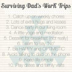 Surviving Dad's Work Trips | Detroit Moms Blog
