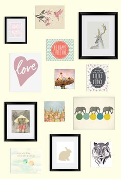 Shop unique nursery art for you baby.  BoomBoom Prints connects moms and independent artists.