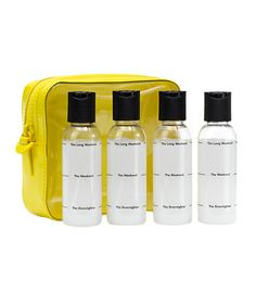 Fill-It-Up Travel Case and Bottles...Essential Travel Gear by Real Simple 1-Fl Snooze pack 2- Travel Dairy 3- Roll up Jewelry case 4-Packing check list 5-packing cube set 6-Travelogue 7-self seal dry bag