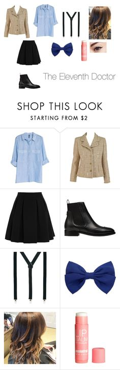 """""""The Eleventh Doctor"""" by bekahpiercexoxo ❤ liked on Polyvore featuring MANGO, Chanel, By Malene Birger, Balenciaga, ASOS, Forever 21 and H&M"""