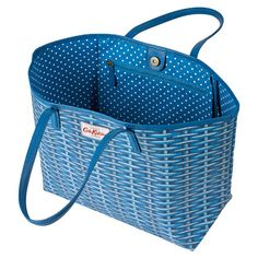 Wicker Large Leather Trim Tote Cath Kidston Bags, Wicker, Shoulder Bag, Leather, Shopping, Women, Shoulder Bags, Loom, Woman