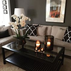 living room furniture list Living Room Inspiration, Home Decor Inspiration, Decor Ideas, Inspiration Design, First Apartment Decorating, Apartment Ideas, Cute Apartment Decor, Cheap Apartment, Apartment Design
