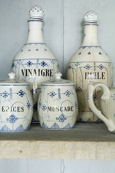 Blue and White French Antique French Country Cottage, French Country Style, Country Chic, French Farmhouse, Cottage Chic, Country Life, Country Living, Royal Copenhagen, Blue And White China