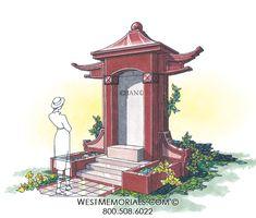 West Memorials - Visit our website for designs - We build custom Mausoleums 2017 Design, Design Development, Beautiful Birds, Granite, Stained Glass, This Is Us, Memories, Statue, Architecture