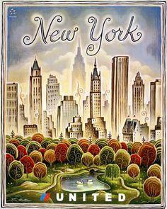Affiche vintage new York