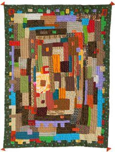 The Kawandi Quilts   --   Looks like a log cabin variation/ interpretation