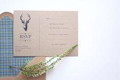 Stag themed wedding stationery inspired by the Scottish Highlands. ©bottledloveweddingstationery