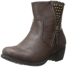 Easy Street Womens Rylan Faux Leather Studded Booties