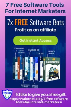 7 Free Software Tools For Internet Marketers Online Help, Make Money Online, How To Make Money, Building A Website, Internet Marketing, Affiliate Marketing, Free Gifts, Software, Product Launch