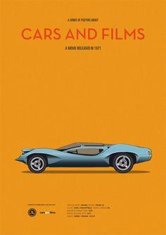 A Clockwork Orange (1971) ~ Minimal Movie Poster by Jesus Prudencio ~ Cars and Films Series