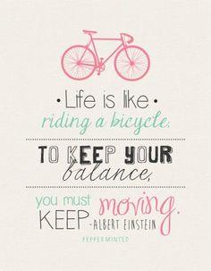 #motivationmonday Life is like riding a bike!