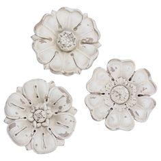 Beautiful Wanddeko Set tlg Flowers Shabby Chic Vorderansicht