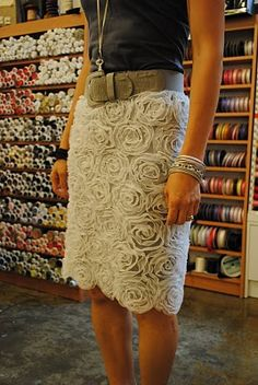 make a skirt using a textured fabric